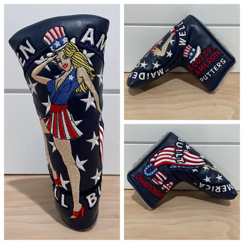 SCOTTY CAMERON HEADCOVER 2013 US OPEN MAIDEN AMERICA PUTTER COVER GOLF NEW