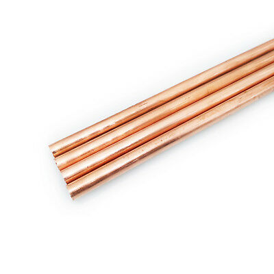 Us Stock 4pcs 6mm Dia. 9.85 Long 99.9 Pure Copper T2 Cu Metal Rods Cylinder