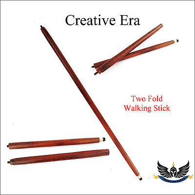 2 Fold  Vintage Wood Walking Stick Cane Only For Cane Handle (Only wooden shaft) for sale  Shipping to Canada