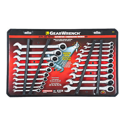 Gearwrench 20-Piece Ratcheting Wrench Set, SAE and Metric #