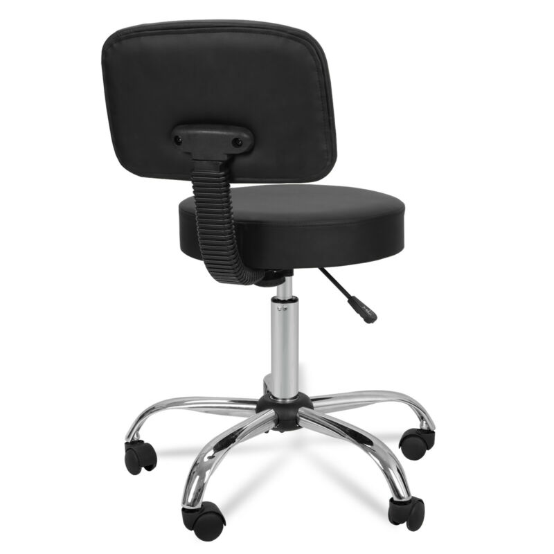 Adjustable Hydraulic Salon Stool Chair +Drafting Table w/Glass Top Craft Station