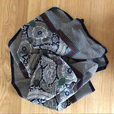 Vintage Scarf Styles -1920s to 1960s Vintage Scarf Paisley Italy $15.00 AT vintagedancer.com