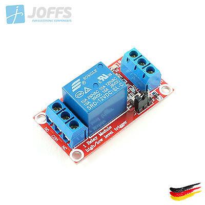 1-Kanal 12V Relais Modul mit Optokoppler für u.a. Arduino (1Ch High/Low Trigger)