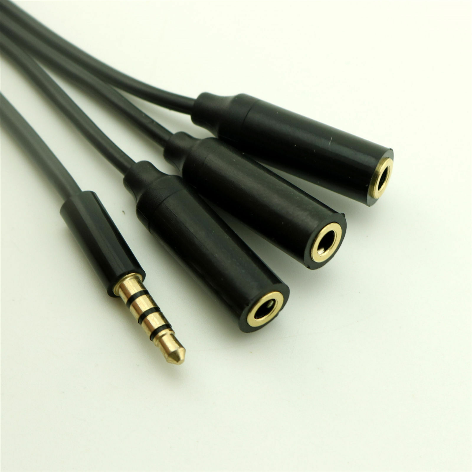 "10pcs 3.5mm 4 Pole Male to 1//8/"" 4 Pole Male TRRS Stereo Audio Headphone Adapter"