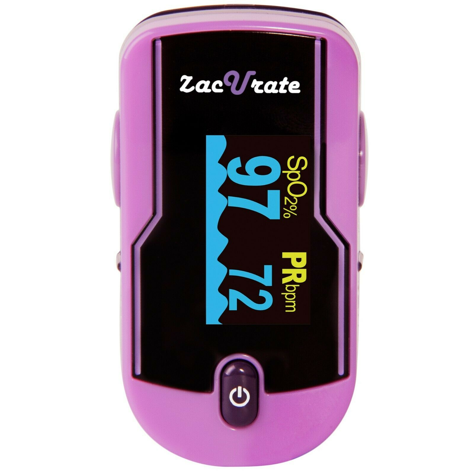 Zacurate 500E Purple Fingertip Pulse Oximeter Heart Rate