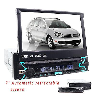 "Single 1 DIN 7"" HD Flip Up GPS Navigation Car Stereo CD DVD MP3 Player Radio BT comprar usado  Enviando para Brazil"