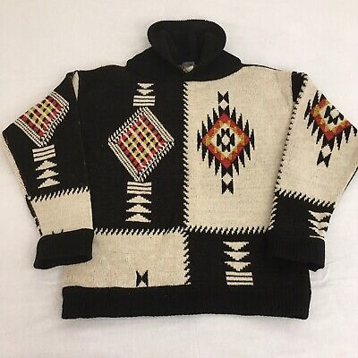 Vintage 80's KENZO Paris Aztec Wool Sweater- Size Large- Made In Italy