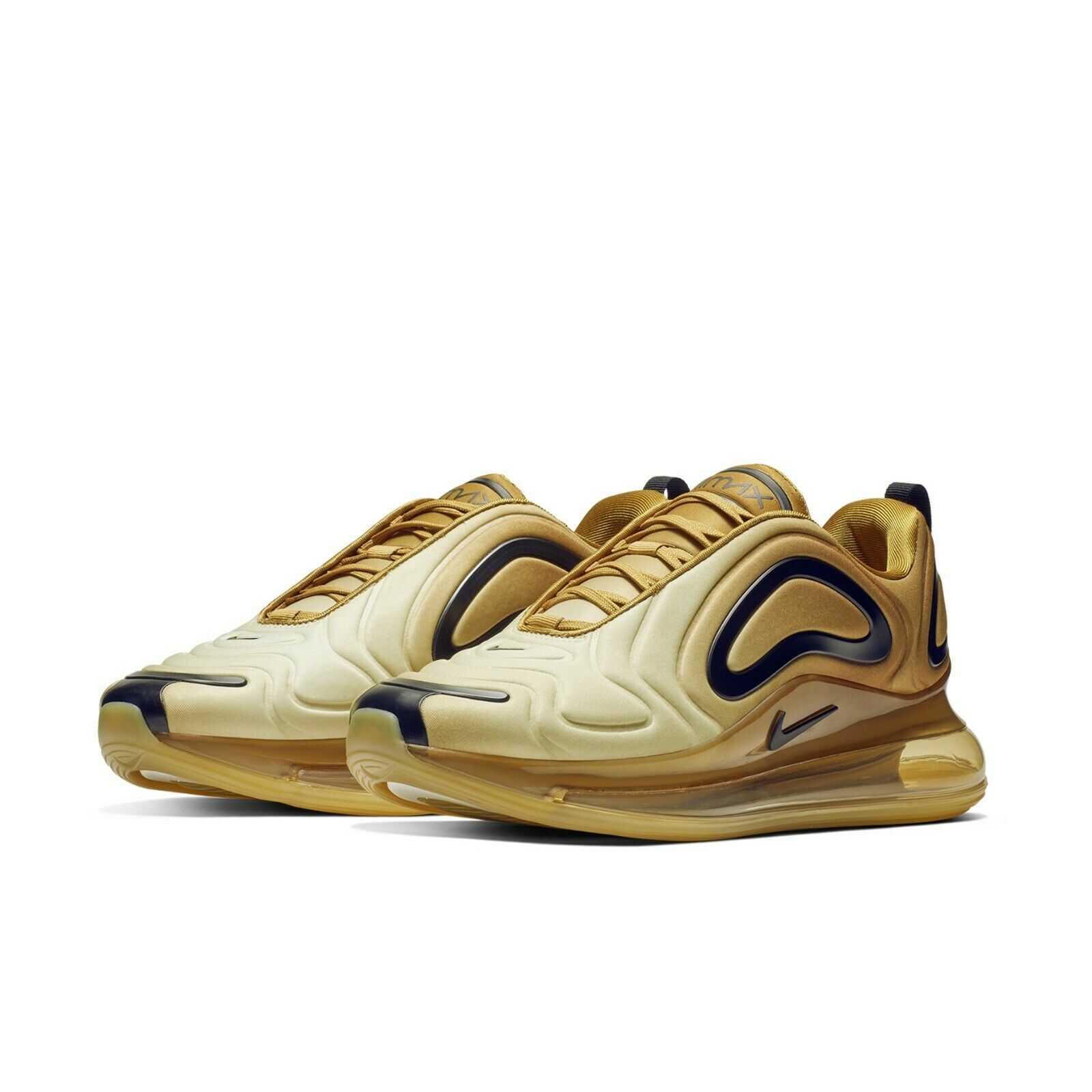 the best attitude c409a ab0d7 Nike Mens Air Max 720 Desert Gold Wheat Black Running Shoes Sneakers  AO2924-700
