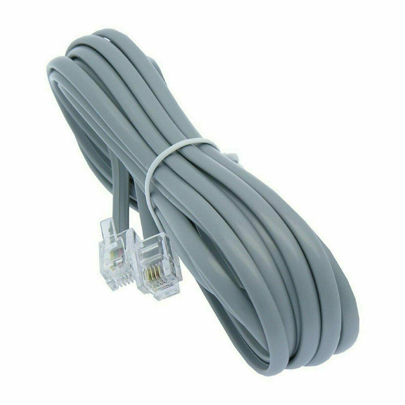 7ft line cord cable 6p6c rj12 rj11