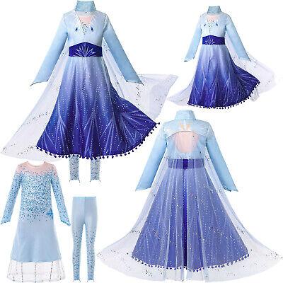 Kinder Mädchen Kleid Frozen Princess Fancy Cosplay Kostüm - Fancy Kleid Kostüme
