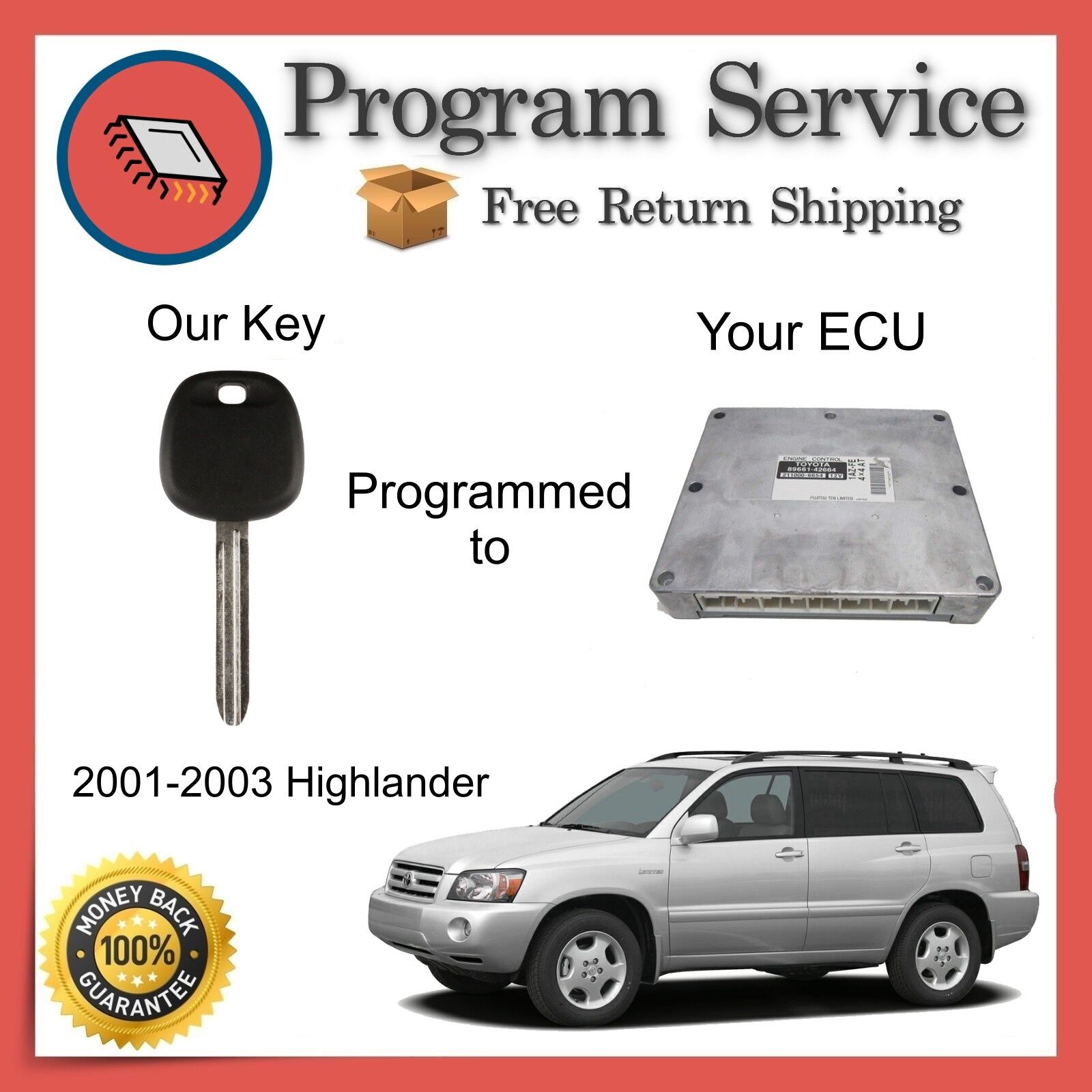✅ ECU ECM BCM Computer KEY PROGRAM | Toyota Highlander 2001 2002 2003 01 02 03