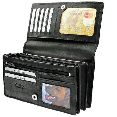 AMARI Geldtasche XXL RFID Schutz Nappaleder 20 Fächer Portemannaie Geldbeutel