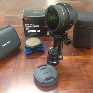 Sigma 8mm  fisheye  and Nodal Ninja for Nikon