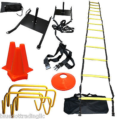 Strength & Speed Agility Training Sled Ladder Cones Kit