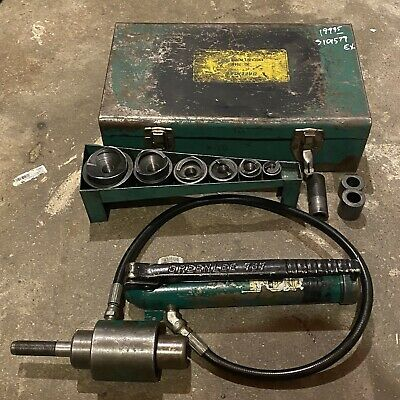 Greenlee Hydraulic Pump 767 Knockout Set 7646 With 34-3 Inch Punch And Dies