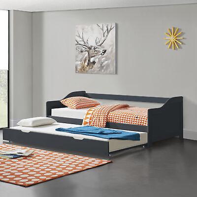 [En.casa] Extensible 90x200cm Plegable La Sofás Cama Invitados De Almacenamiento