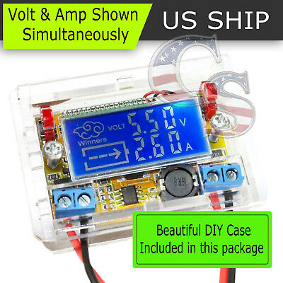 Dc-dc Adjustable Step Down Power Supply Modulevoltage Current Lcd Display Cased