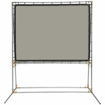 Rear Projection Screen Kit - Carl's Rear Projection Film, 4:3, 6.75x9, FreeStanding Projector Screen Kit,Gray