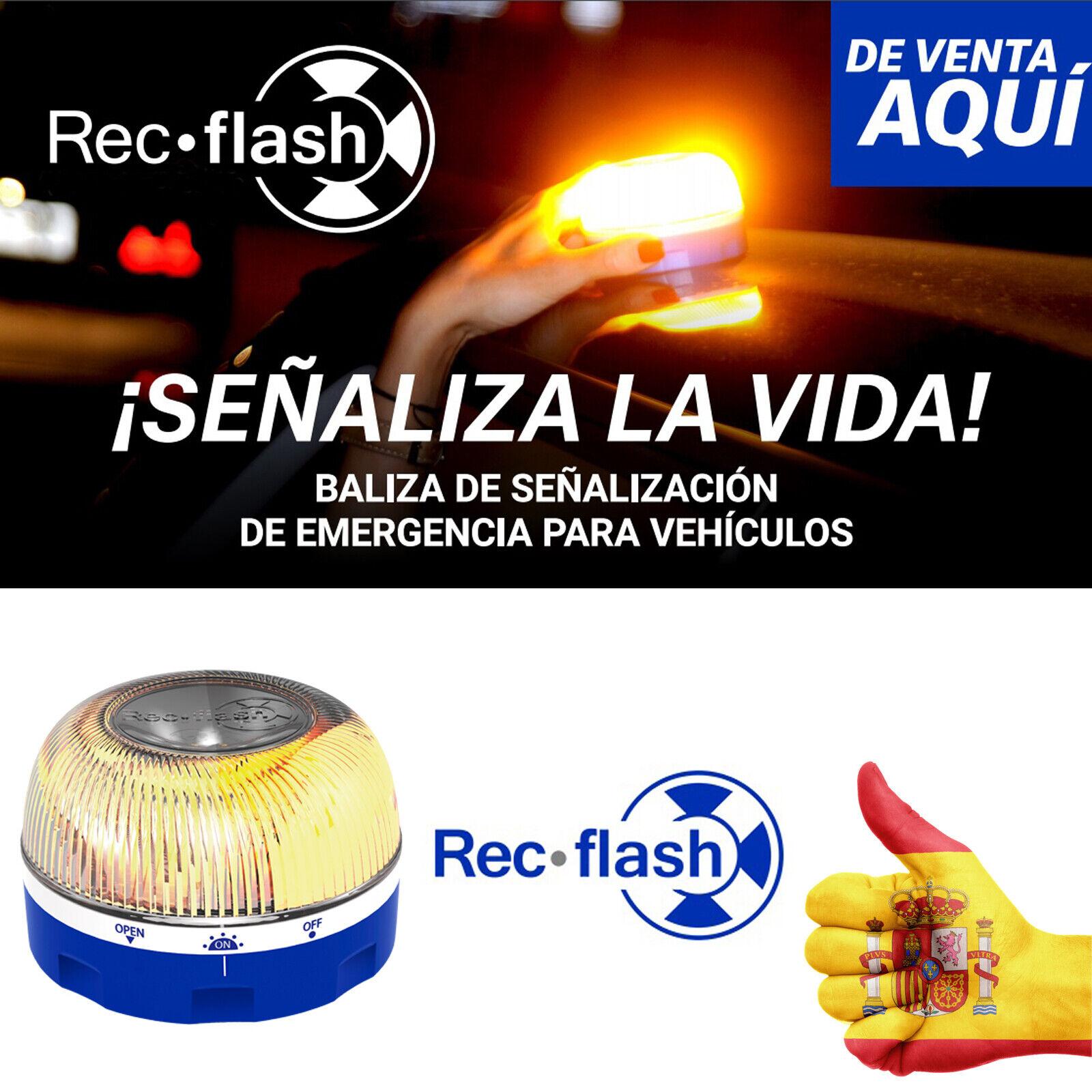 Help Rec Flash - Luz de Emergencia Autónoma - Señal V16 Homologada por la DGT
