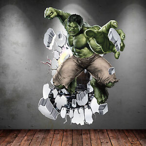 Hulk wall stickers ebay
