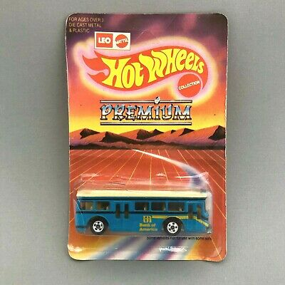 1991 Leo India Hot Wheels '82 Single Deck Bus  With Card