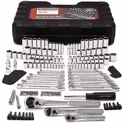 Craftsman 165 on the knuckles pc Mechanics Tool Set Ensign Metric Socket Ratchet Tug