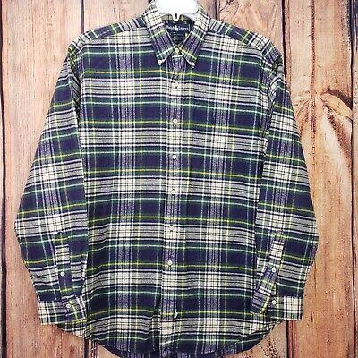 Ralp Lauren Vintage Long Sleeve Button Down Franel Plaid Shirt Men's L (Ralp Lauren Men)