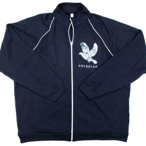 Coldplay Ghosts Stories 2014 Full-Zip Track Jacket Fleece Lined Navy Blue - XXL