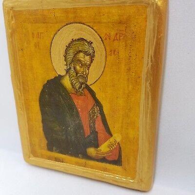 Saint Andrew San Andrea Agios Andreas Andre Andres Greek Orthodox Rare Icon Art