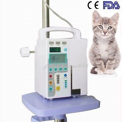 Fda Hd Lcd Veterinary Infusion Pump Iv Fluid Infusion W Voice Alarm For Vet Use