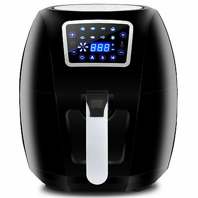 1700w Extra Large Deep Air Fryer Lcd Display Temperature Control 6.3qt 8 Presets