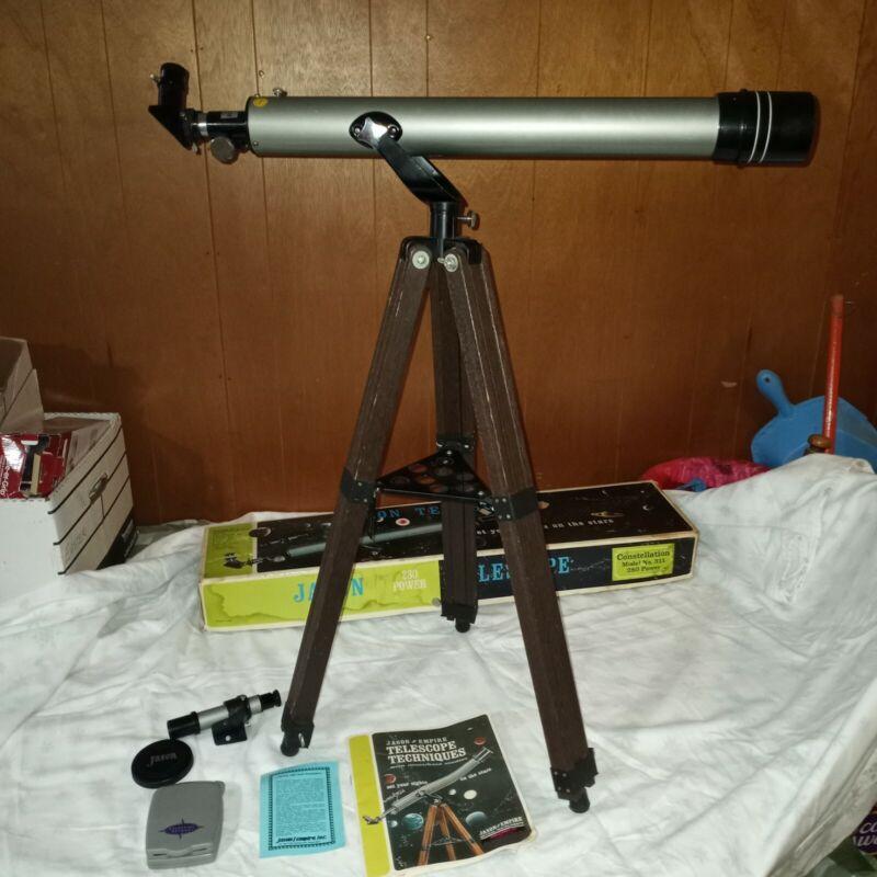 Vintage Jason 280 Constellation Telescope Model 311 Vintage Japan Boxed Set 70