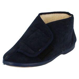 Donna-Lady-Love-Navy-Pantofola-a-Stivale-Edith-Taglia-UK-4
