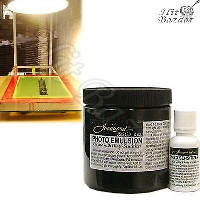 - PHOTO EMULSION DIAZO Sensitizer 8oz Silk Screen Printing Accessory Kit Art Craft