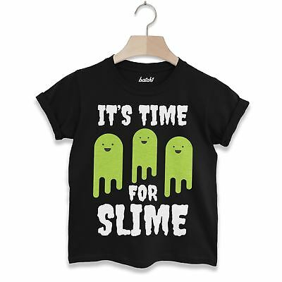 Batch1 It's Time For Slime Children's Halloween T-Shirt - It's Halloween Time