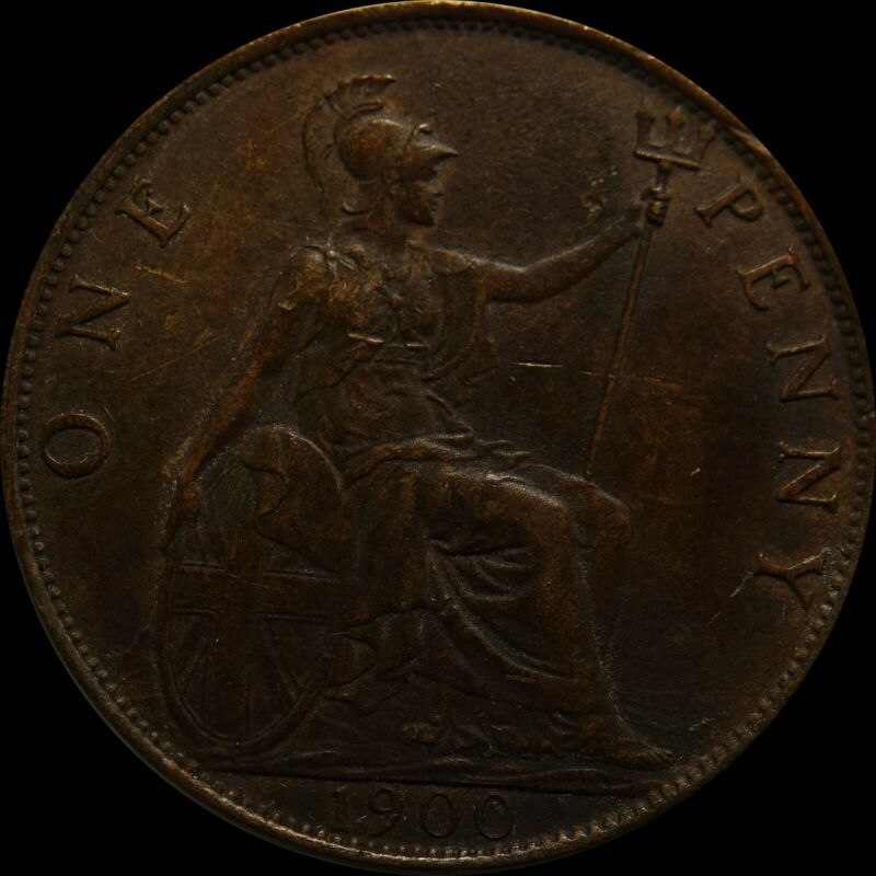 Great Britain Penny 1900  bronze coin United Kingdom nice condition