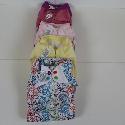 Bumgenius Freetime All in One, One Size Cloth Diapers Lot Of 5 See Details