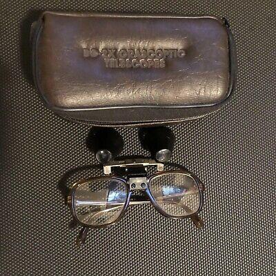 Vintage Orascoptic Telescopes Lenses Bg-2x Dental Glasses