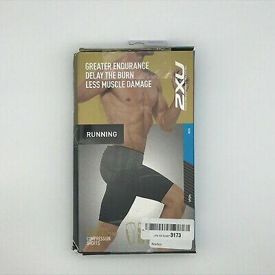 2XU Men's MCS Run Running Sports Compression Shorts, Black Nero, Extra Large