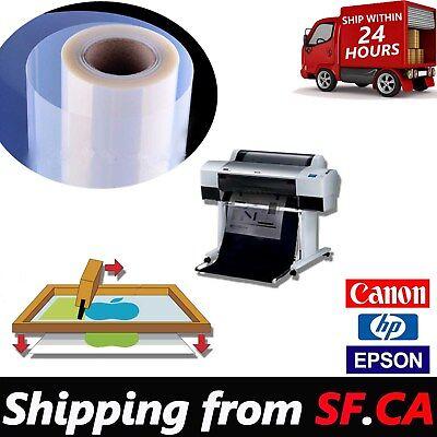 36x100 Rollpremium Waterproof Inkjet Silk Screen Printing Transparency Film