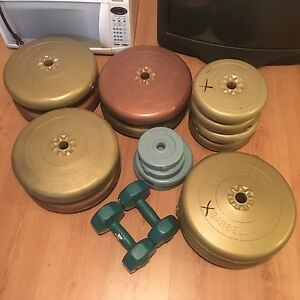 265 pounds of weights