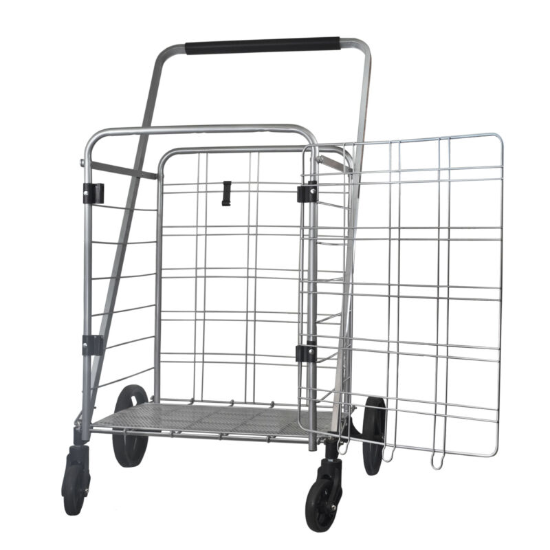 Helping Hand FQ39510 Heavy Duty Shopping Cart with Swivel Mounted Front Wheels