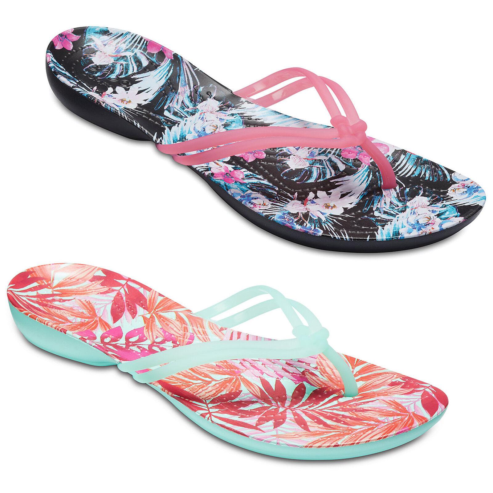 Details about Crocs Isabella Flip Flop Sandals Womens Thong Lightweight Beach Summer Holiday