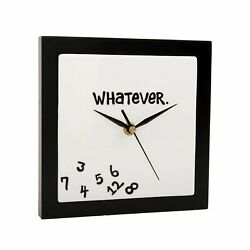 Our Name Is Mud - Whatever Wall Clock - 10320 - ONIM Earthenware Wood