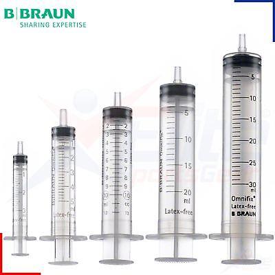 Braun Omnifix Sterile Syringe Luer Slip 2ml, 3ml, 5ml,10ml, 20ml, 50ml Syringes