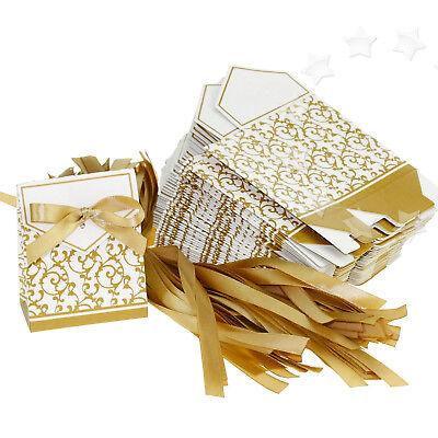 50pcs DIY Wedding Party Birthday Gift Ribbon Favours Candy Paper - Diy Wedding Gift