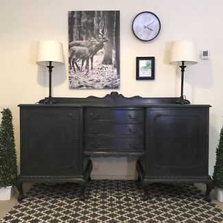 Black LARGE French buffet sideboard