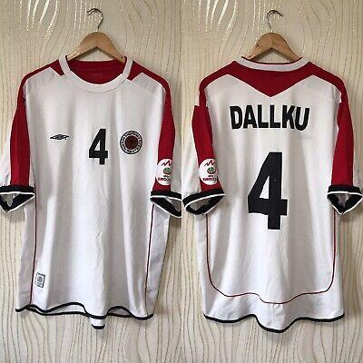 ALBANIA 2007 2008 AWAY FOOTBALL SHIRT SOCCER JERSEY UMBRO MATCH WORN? # DALLKU image