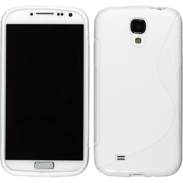 Silicone Case for Samsung Galaxy S4 S-Style white + protective foils
