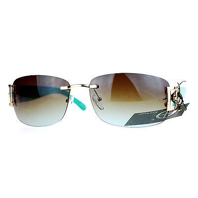 Womens Designer Sunglasses Rimless Rectangular Fashion (Designer Rimless Eyewear)
